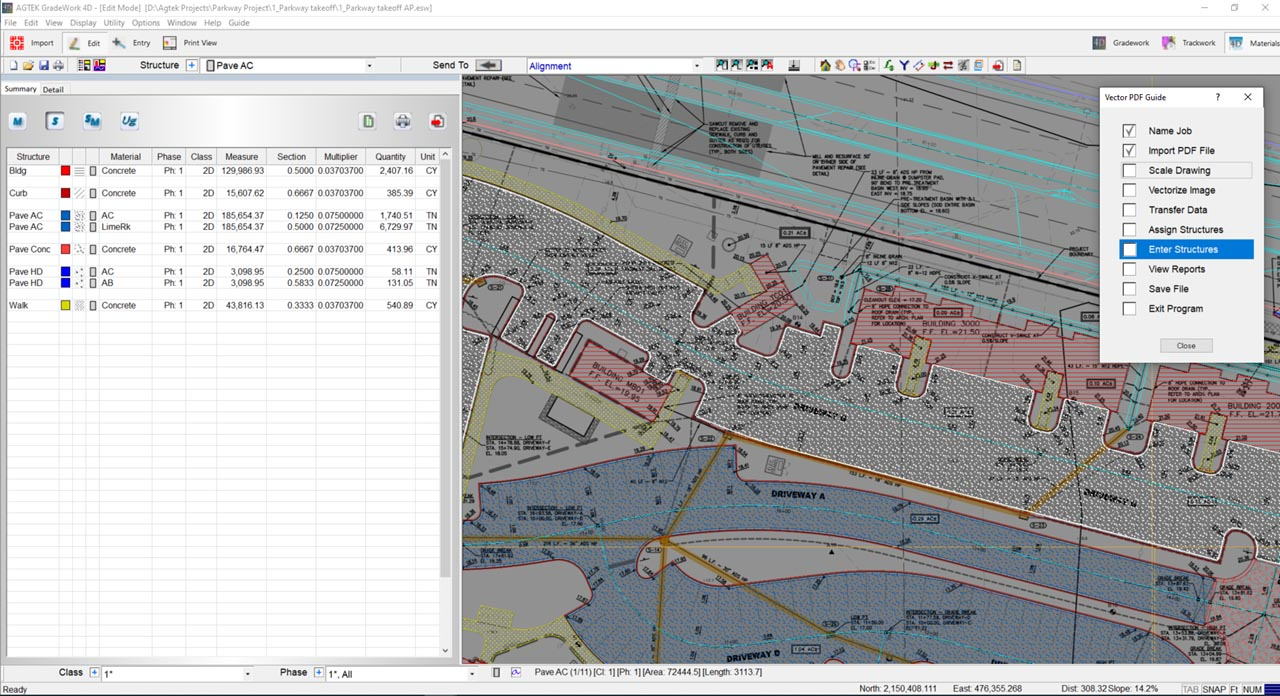 Materials takeoff software for Construction