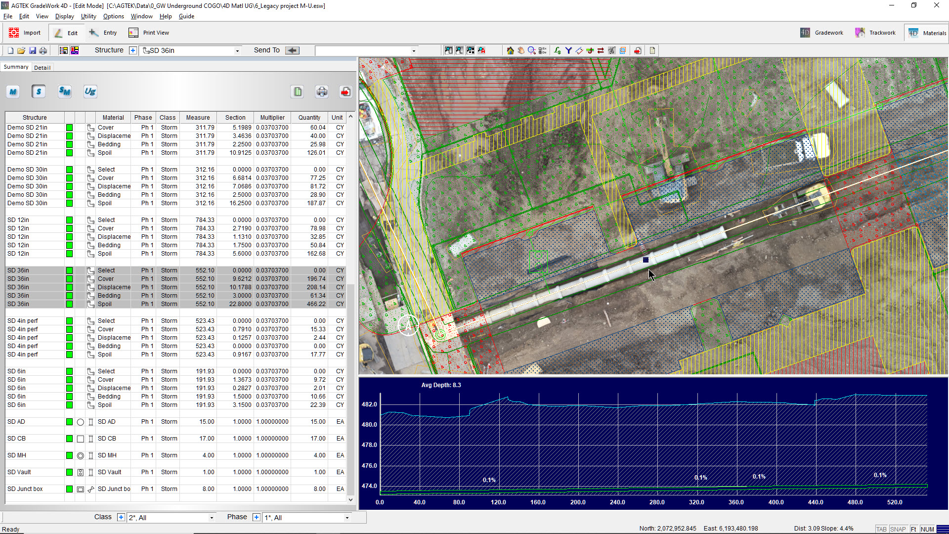 AGTEK has introduced Undergound, the next generation software to simplify takeoff and production control of pipe and underground utilities.